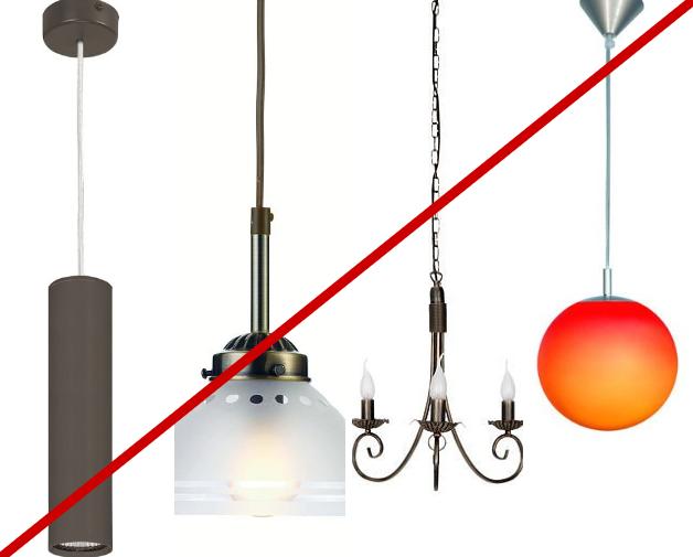 Lampy wiszące nie nad stół
