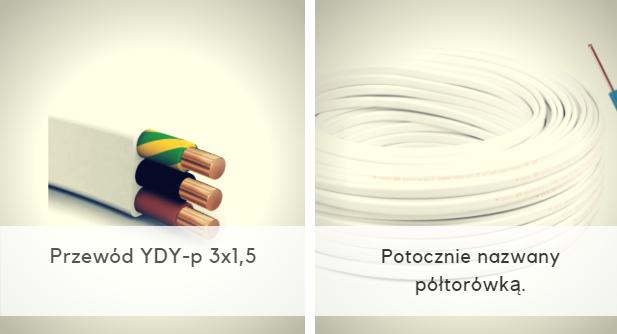 Przewód YDY-p 3x1,5