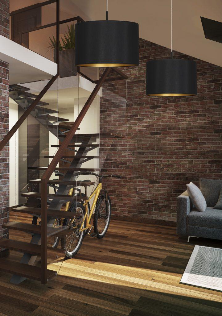 Oświetlenie korytarza, przedsionka i schodów